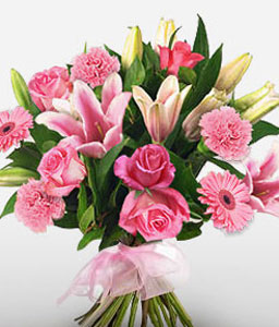 Inspiration-Pink,Carnation,Lily,Mixed Flower,Rose,Bouquet