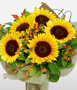 Sunny Dazzle-Yellow,SunFlower,Bouquet