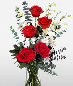 Crimson Sedate-Red,Rose,Arrangement