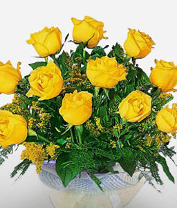 Golden Endeavour-Green,Yellow,Rose,Bouquet