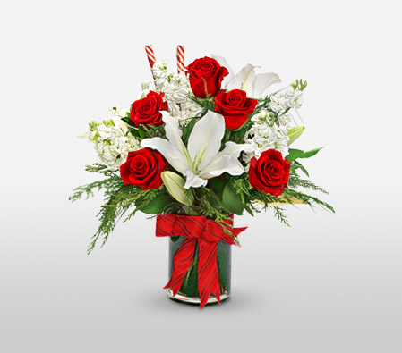 Candy Cane Arrangement<br><font color=red>Sale $10 Off</font>
