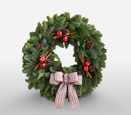 Merry Christmas Wreath<br><font color=red> Sale $5 Off</font>