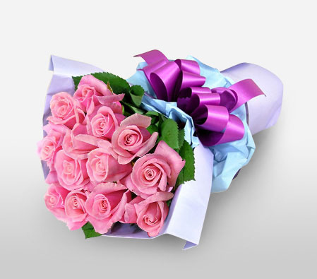 Tenderness <Br><Font Color=Red>11 Pink Roses </Font>