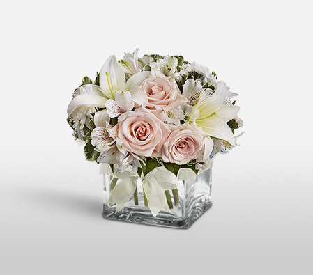 Sugar Cube-Pink,Lily,Mixed Flower,Rose,Arrangement
