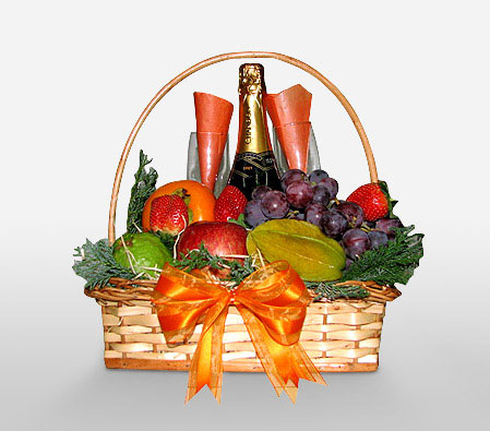 Fruits And Champagne Hamper