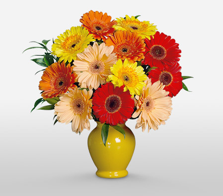 Sunshine <Br><Font Color=Red>Complimentary Yellow Vase </Font>