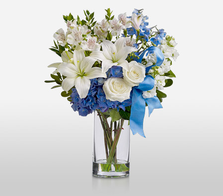 A Touch Of Blue <Br><Font Color=Red>Free Vase</Font>