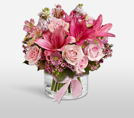 Pink Kiss <Font Color=Red>Mixed Flowers Arrangement</Font>