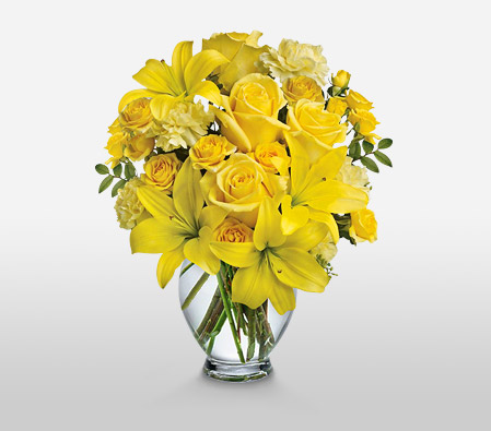 Yellow Bells <Br><Font Color=Red>Complimentary Vase </Font>