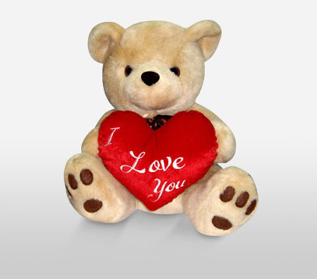 Brownie Bear With I Love You Heart