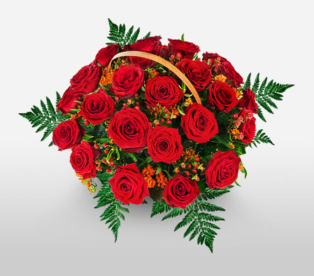 Rose Basket <Font Color=Red>24 Roses </Font>