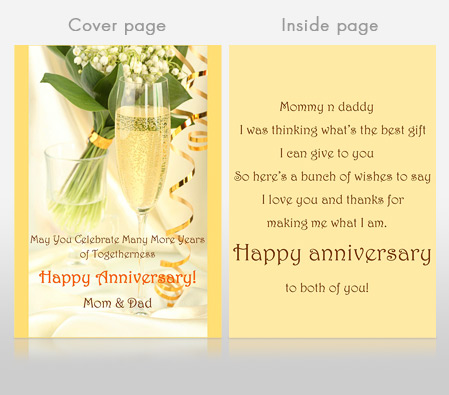 Happy Anniversary For Parents