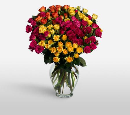 Fantasia 16 Long Stem Spray Roses To Canada Flora2000