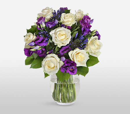 Avalanche Roses And Lisianthus