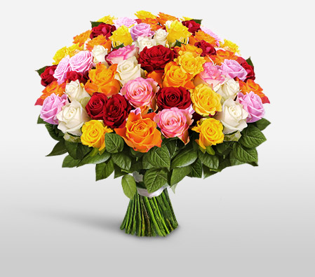 50 Assorted Roses