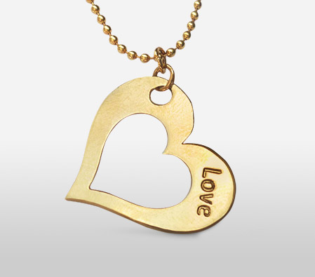 Gold Heart Pendent