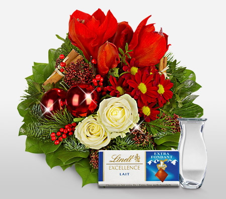 Santa Surprise <br><font color=red>With Free Vase & Chocolate</font>