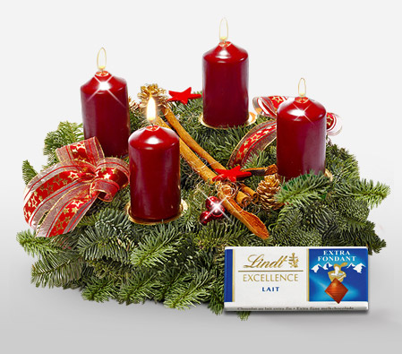 Advent Christmas Centerpiece <Br><Font Color=Red>With Free Chocolate</Font>