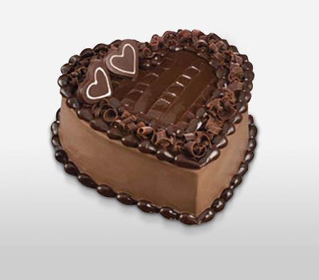 Heart Shape Chocolate Egg Cake - 35oz/1kg-Chocolate,Cakes,Sweets,Gifts