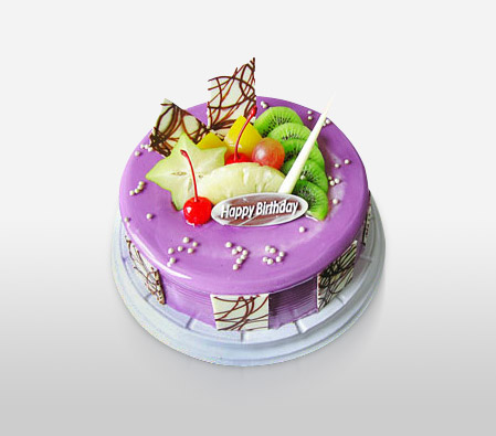 Cream Fruit Cake 8 Inches