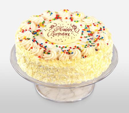 2Lbs Classic Vanilla Birthday Cake - United States