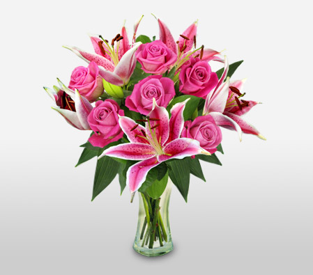 Rose And Lily Hand Tied <Font Color=Red>Sale $20 Off </Font>