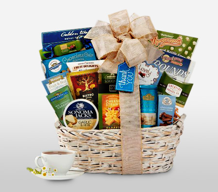 Thank You Gift Send Gift Baskets Usa Same Day Flower Delivery Usa To United States