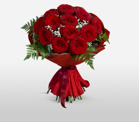 1 Dozen Red Roses with $10 Off-Red,Rose,Bouquet