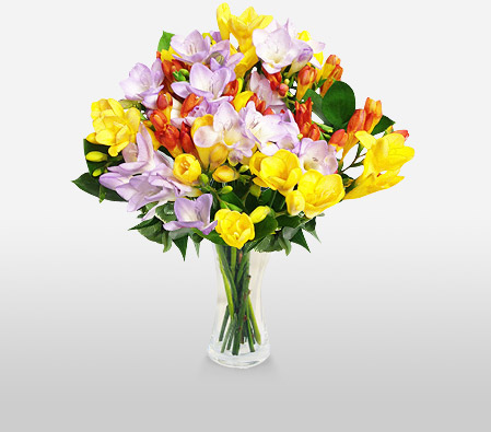 Freesia Bouquet <Br><Font Color=Red>Sale $15 Off </Font>