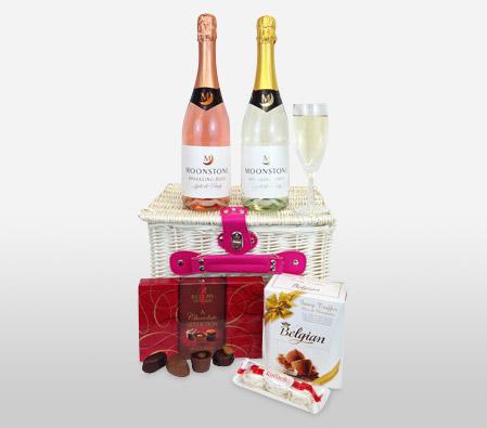 Chocolates And Wine Gift Hamper