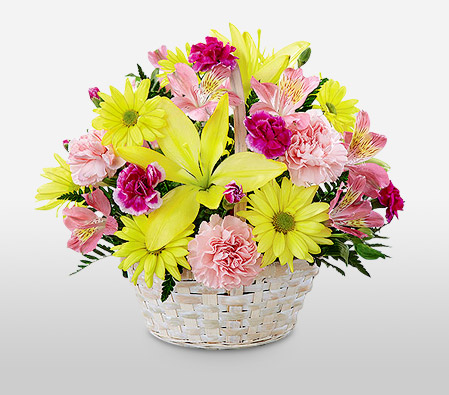 Cuddle Up<Br><span>Mixed Flowers in Basket</span>