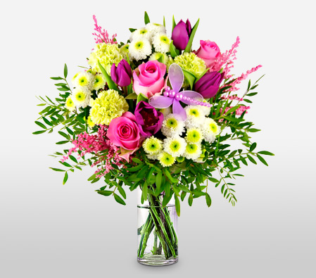 Colorful Bouquet Of Mix Flowers