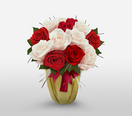 Christmas Elegance  <Br><Font Color=Red>Sale 50% Off - One Dozen Roses </Font>