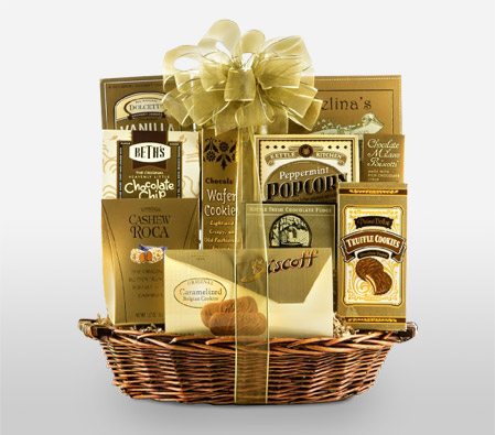 Golden Gift Basket