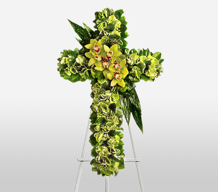 Standing Cross Funeral Spray