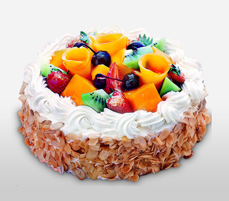 Awesome Fresh Fruit Cream Cake Send Cakes For Birthdays Anniversary Funny Birthday Cards Online Overcheapnameinfo