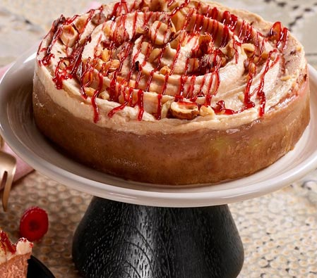 Raspberry Hazelnut Cheesecake - 35oz/1kg