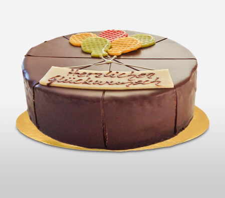 Dark Chocolate Dessert Cake - 21oz/600g - Has Traces of Egg