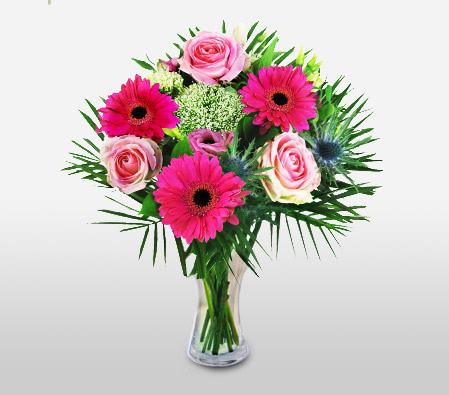 Classic Mixed Flowers In Pink