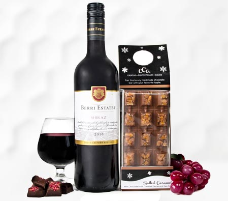 Luxury Wine and Chocolate Hamper