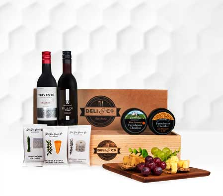 Deli N Co Cheese and Wine Hamper