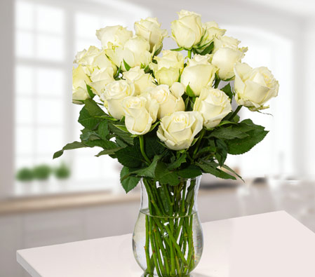 20 Beautiful White Roses