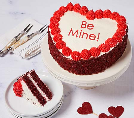 Be Mine! Red Velvet Chocolate Cake - 35oz/1kg