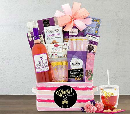 Cheers Moscato Wine Gift Basket