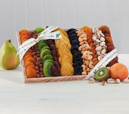 Dried Fruit and Nut Gift Basket
