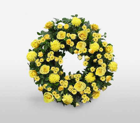 Contemporary Funeral Wreath
