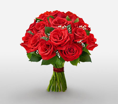 Romantic Roses <Br><Font Color=Red>One Dozen Roses</Font>
