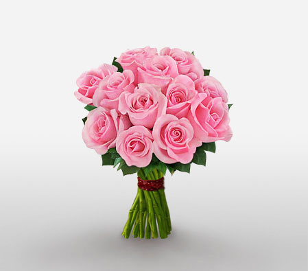 Pleasant Charm <Br><Font Color=Red>One Dozen Roses</Font>
