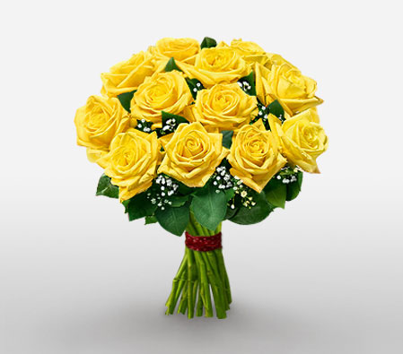 Yellow Smile - 1 Dozen Roses