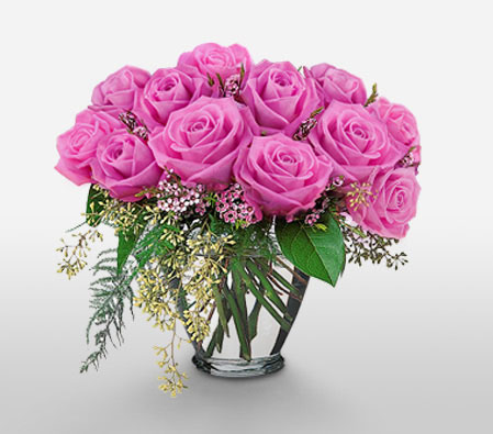 Lavender Beauty <Br><Font Color=Red>One Dozen Roses</Font>